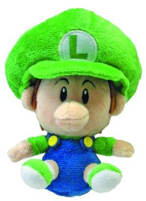 Super Mario Bros Plush - Baby Luigi 5-Inch