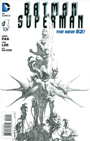 Batman Superman #1 Cover G Incentive Jae Lee Sketch Cover