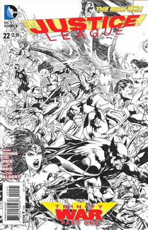 Justice League Vol 2 #22 Cover E Incentive Ivan Reis Sketch Cover (Trinity War Part 1)
