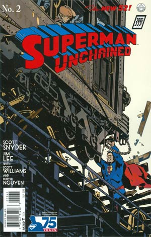 Superman Unchained #2 Cover E Incentive 75th Anniversary 1930s Variant Cover By John Paul Leon