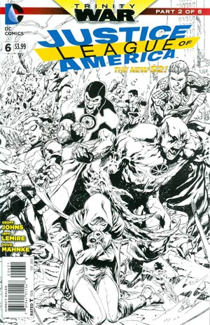 Justice League Of America Vol 3 #6 Cover E Incentive Ivan Reis Sketch Cover (Trinity War Part 2)