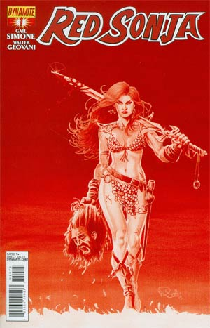 Red Sonja Vol 5 #1 Cover H Incentive Nicola Scott Blood Red Cover