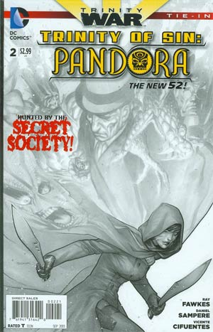 Trinity Of Sin Pandora #2 Cover B Incentive Ryan Sook Sketch Cover (Trinity War Tie-In)