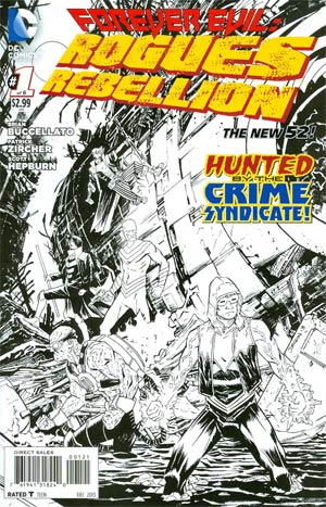 Forever Evil Rogues Rebellion #1 Cover B Incentive Declan Shalvey Sketch Cover