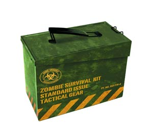 Ammo Box Metal Zombie Survival Kit Previews Exclusive Lunchbox
