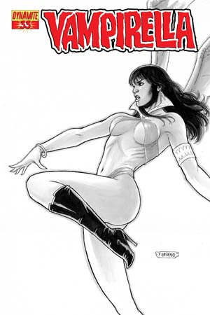 Vampirella Vol 4 #33 Cover C High-End Fabiano Neves Black & White Ultra-Limited Cover (ONLY 50 COPIES IN EXISTENCE!)