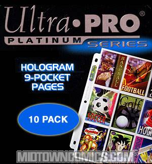 Ultra Pro 9-Pocket Trading Card Sleeves 10-Pack
