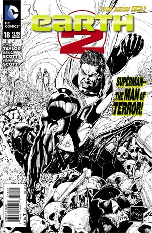 Earth 2 #18 Cover B Incentive Ethan Van Sciver Sketch Cover