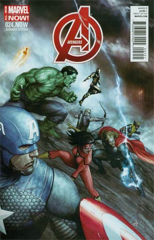 Avengers Vol 5 #24.NOW Cover C Incentive Agustin Alessio Variant Cover