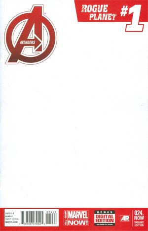 Avengers Vol 5 #24.NOW Cover J Variant Blank Cover