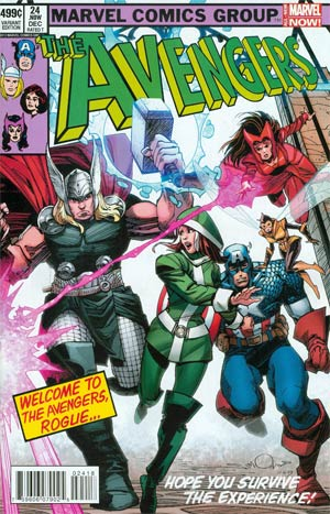 Avengers Vol 5 #24.NOW Cover N Variant Avengers Covers X-Men By Walter Simonson Cover