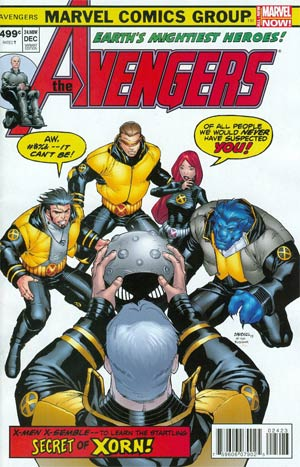 Avengers Vol 5 #24.NOW Cover R Variant X-Men Covers Avengers By Carlo Barberi Cover