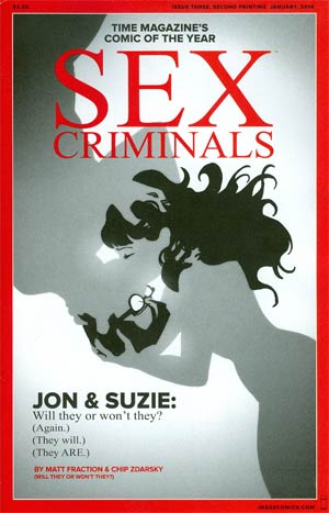 Sex Criminals #3 Cover B 2nd Ptg