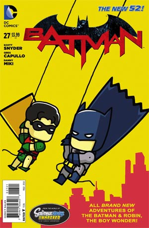 Batman Vol 2 #27 Cover D Incentive Scribblenauts Unmasked Variant Cover (Zero Year Tie-In)