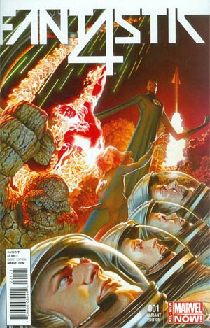 Fantastic Four Vol 5 #1 Cover F Incentive Marvel 75th Anniversary Alex Ross Color Variant Cover