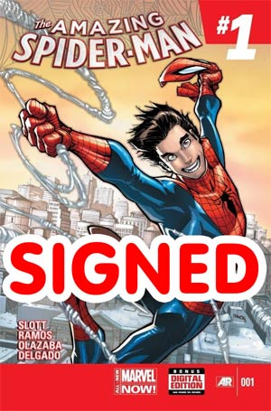 Amazing Spider-Man Vol 3 #1 Cover T DF Deluxe Dual Signed By John Romita Sr & Remarked By Ken Haeser