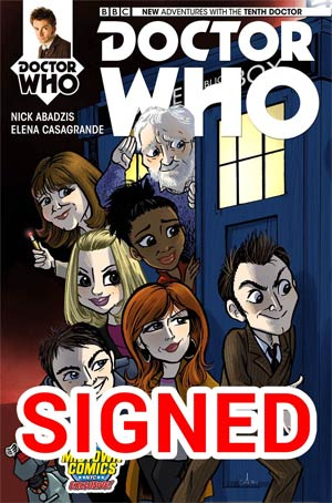 Doctor Who 10th Doctor #1 Cover J Midtown Exclusive Amy Mebberson Variant Cover Signed By Nick Abadzis (1 Of 2)