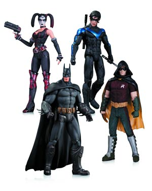 Batman Arkham City Harley Quinn Batman Nightwing Robin 4-Pack Action Figure