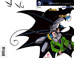 Batman Vol 2 #29 Cover F DF We Can Be Heroes Blank Variant Edition Signed & Re-Marked With A Detective Comics #27 Homage Sketch By Ken Haeser (Zero Ye