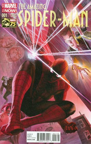 Amazing Spider-Man Vol 3 #1 Cover N Incentive Alex Ross 75th Anniversary Color Variant Cover