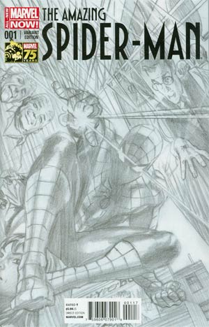 Amazing Spider-Man Vol 3 #1 Cover O Incentive Alex Ross 75th Anniversary Sketch Variant Cover