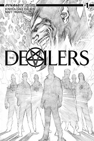 Devilers #1 Cover C Incentive Marc Silvestri Black & White Variant Cover