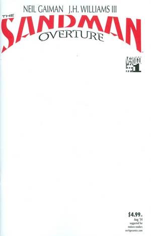 Sandman Overture #1 Cover H Variant Blank Cover