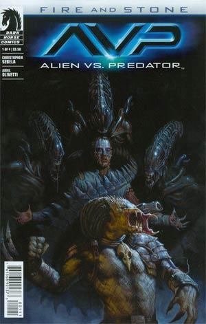 Alien vs Predator Fire And Stone #1 Cover A Regular EM Gist Cover