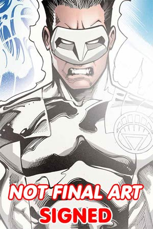 Green Lantern New Guardians Futures End #1 Cover C 3D Motion Cover Signed By Justin Jordan