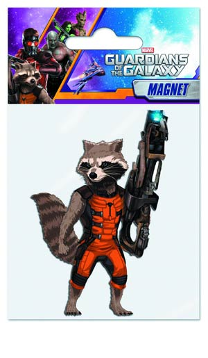 Guardians Of The Galaxy Soft Touch Magnet - Rocket Raccoon