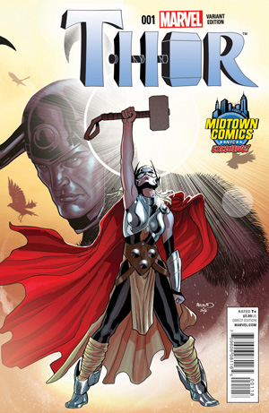 Thor Vol 4 #1 Cover B Midtown Exclusive Paul Renaud Variant Cover