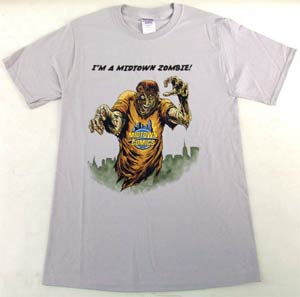 Midtown Zombie Men Silver T-Shirt Large