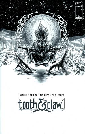 Autumnlands Tooth & Claw #1 Cover B Incentive Ben Dewey Black & White Cover