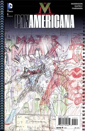 Multiversity Pax Americana #1 Cover E Incentive Grant Morrison Variant Cover