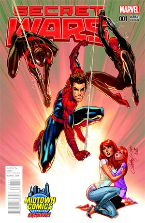 Secret Wars #1 Cover B Midtown Exclusive J Scott Campbell Color Variant Cover