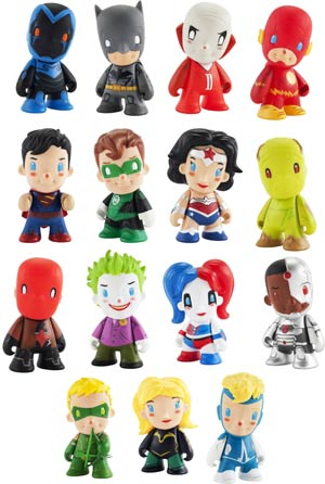 DC Universe x Kid Robot Mini Figure Series Blind Mystery Box Display