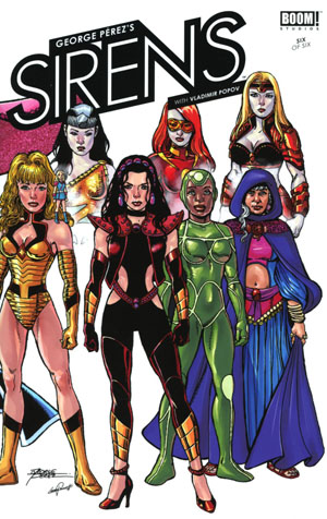 George Perezs Sirens #6 Cover A Regular George Perez Cover