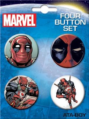 Deadpool 4-Button Set #3 (83175BT4)