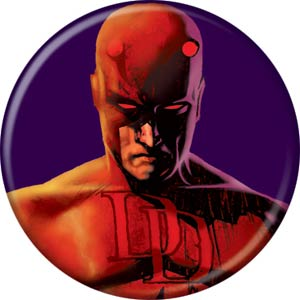 Marvel Comics 1.25-inch Button - Daredevil On Purple (84676)