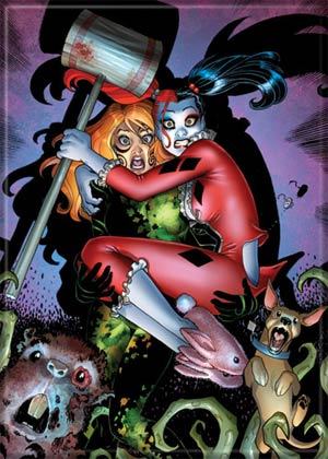 DC Comics 2.5x3.5-inch Magnet - Bombshells Harley And Ivy Scared (71758DC)