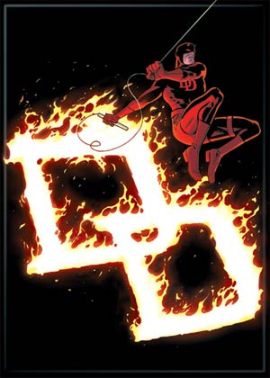 Marvel Comics 2.5x3.5-inch Magnet - Daredevil Flaming Ds (71713MV)