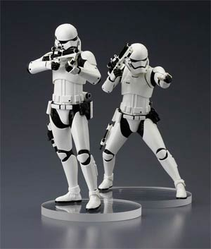 Star Wars Episode VII The Force Awakens First Order Stormtrooper ARTFX Plus 2-Pack Statue