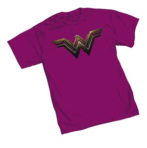 Batman v Superman Wonder Woman Symbol Womens T-Shirt Medium