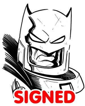 Dark Knight III The Master Race #1 Cover Z-H DF Blank Variant With Batman Signed & Remarked By Ken Haeser