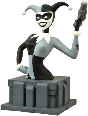 NYCC 2015 Batman The Animated Series Harley Quinn Black & White Bust