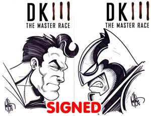 Dark Knight III The Master Race #1 Cover Z-K DF Blank Variant Set With Batman & Superman Signed & Remarked By Ken Haeser