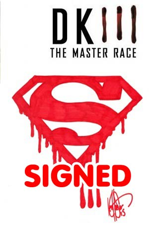 Dark Knight III The Master Race #1 Cover Z-J DF Blank Variant With Superman Logo Signed & Remarked By Ken Haeser