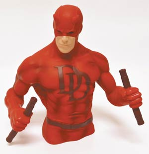Daredevil Previews Exclusive Bust Bank Red Version