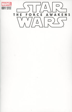 Star Wars Episode VII The Force Awakens Adaptation #1 Cover B Variant Blank Cover