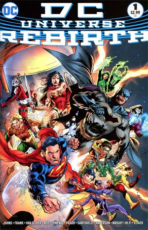 DC Universe Rebirth Special #1 Cover B Variant Midnight Release Cover